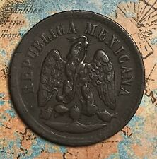 1886-M MEXICO 1 CENT COPPER COLLECTOR COIN. FREE SHIPPING