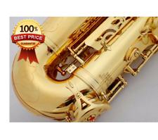 Professinal Alto Saxophone 802 Eb Professional Gold Flat Sax UPS musical henri**