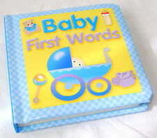 NEW FIRST WORDS PADDED COVER PICTURE BOARD BOOK BABY BOY BLUE BW BBY1-2 DAMAGED