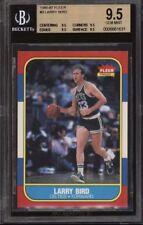 1986 Fleer Basketball Larry Bird #9; BGS TRUE 9.5 (9.5x4 QUADS) GEM MINT