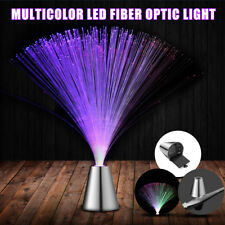 Multi Color Changing LED Fiber Optic Night Light Lamp Stand Party Calming Decor
