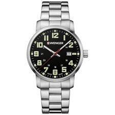 Reloj de Pulsera Wenger 01.1641.111 para Hombre Deportivos Avenue Cuadrante negro de Acero Inoxidable