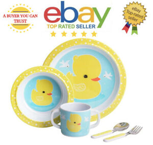 Cute Duck Kids Children Tableware Dinner Breakfast Set of 5* Plate Dish Bowl Cup
