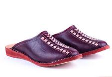 Mens Leather Slides Vintage Leather Mules Leather Slip On Sandals Flat Sandals