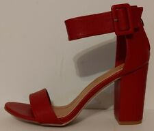 "NEW!!  Catherine Malandrino Red Seaker Sandals 4""  Heels Size 9M US 39M EUR"