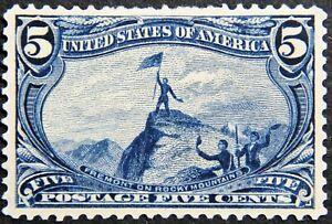 Scott #288 – 5¢ Trans-Mississippi Exposition, M, OG, HR, XF.  SCV*=$220