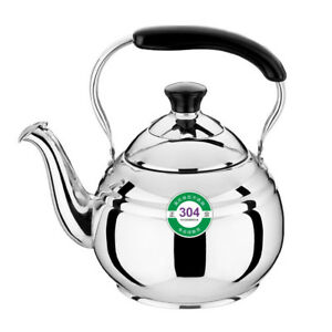 Stainless Steel Whistling Tea Kettle Home Gas Electric Stove Induction 1-5LThick