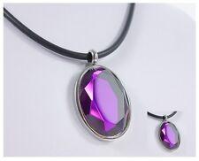 Anhänger Charms Edelstahl Kristall Damenkette Halskette Glaskristall Glas NEU!