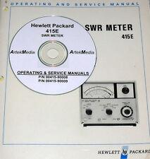 HP 415E SWR Meter Ops -Service Manual (SCHEMATICS !)