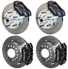 WILWOOD DISC BRAKE KIT,73-83 CDP A,B,E,F,J-BODY,11 ROTORS,BLACK CALIPERS,W/CABLE
