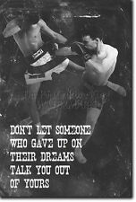 MUAY THAI MOTIVATIONAL PHOTO PRINT 05 MOTIVATION QUOTE POSTER MMA MARTIAL ARTS