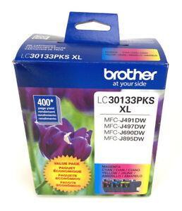Brother LC30133PKS XL Magenta Cyan Yellow Ink Cartridges Exp 12/2022 Genuine New