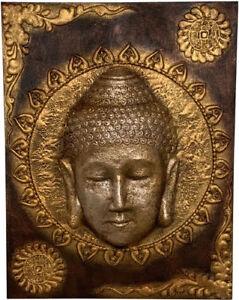 HoGa Buddha 3D Ölgemälde Leinwand Keilrahmen 90 x 70 cm HF155-1