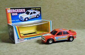 MERCEDES 190E NIB Bump & go MYSTERY ACTION B/O Daffys toys Made in Greece Greek