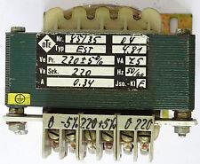 OTE EST Transformator Trafo Transformer 75VA Sek. 220V 0,34A Pri. 220V 50-60Hz