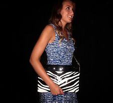 "KATE SPADE RARE SLIM SLENDER FRAMED CLUTCH ""BRYNN"" PASTICHE ZEBRA PATENT LEATHER"