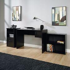 Mainstays 3 Piece Home Office Bundle Black Finish Desk File Cabinet Bookcase New