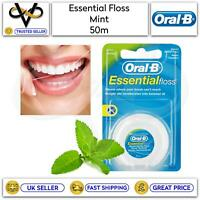Oral B Essential Floss 50m Mint Removes Plaque Where Your Toothbrush Can't Reach