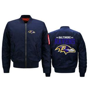 Baltimore Ravens Pilot Bomber Jacket Flying Tigers Flight Thicken Jacket Coat