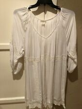 Billabong 3/4 Sleeve Whitewash Collection Top Lacework Size XL NWT