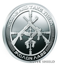 2017 2OZ AG-47 - COME & TAKE THEM PROOF  SILVER SHIELD - .999 PURE - 350 MINTED