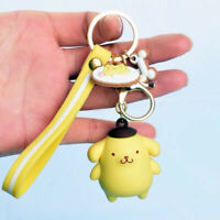 Cute 3D Pompompurin Keychain Key Chain Car Bag Doll Pendant Keyring Nice Gift