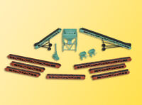 Kibri Kit 38606 NEW HO ACCESSORIES SET WITH CONVEYOR BELTS AND SILO
