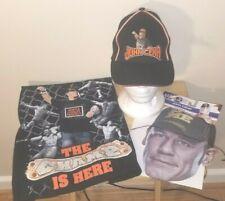 John Cena WWE Black The Champ is Here Youth Large T-Shirt & Cap Set