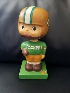 Green Bay Packers Vintage 1960s Bobblehead with Protective Logo Case.