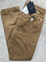 "TED BAKER SAND BROWN ""PANACHE"" FITTED TROUSERS PANTS CHINOS - 32R - NEW & TAGS"