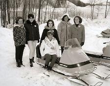 Vintage Snowmobile Racing Ski-Doo Snowmobile Queen of Munising Michigan CLASSIC