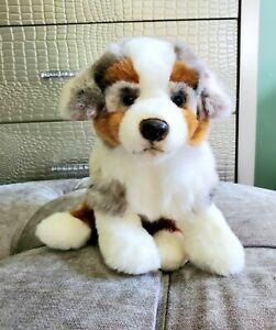 Webkinz Signature Australian Shepherd Plush Puppy Dog Blue Eyes WKS1026 MINT