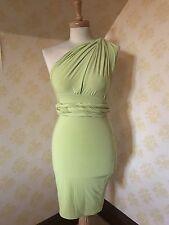 BNWT Lime Green Bodycon Multiway Midi Dress Size s. Goddess London