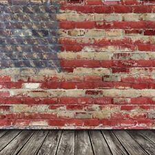 10x10ft Flag Brick Wall Vinyl Photography Background Studio Props Backdrop