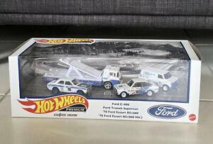 2021 Hot Wheels Premium Collector Ford Race Team Rally Garage Box Set