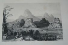 1843 PRINT OF TSEIH SING YEN MOUNTAINS BY T ALLOM CHINA IN A SERIES OF VIEWS  *