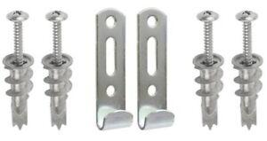 Picture Mirror Hanger 2x Heavy Duty J Hook Kit Self Drill Fittings Cavity Wall