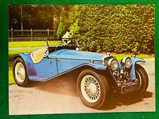 1934 RILEY MPH 12 / 6 BLUE NJ 6180 POSTER ADVERT READY FRAME A4 O