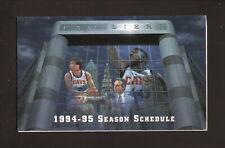 Cleveland Cavaliers--Daugherty-Price--Fratello-1994-95 Schedule--WAKR