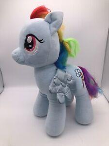 "My Little Pony Build A Bear Rainbow Dash Stuffed Animal Plush Blue 16"""