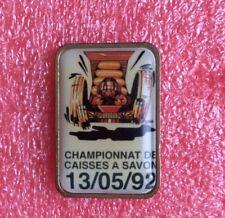 Pins CHAMPIONNAT de CAISSE À SAVON 13/05/92 Voiture Soapbox Race Racer