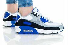 Nike Air Max 90 de cuero blancas híper Royal CD6864-103 Zapatillas Zapatos