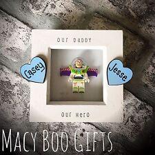 Personalised Gift Present Lego Frame Superhero Dad Daddy Grandad Buzz Lightyear