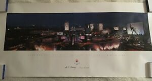 2002 Salt Lake Olympics Panaramic Poster of Olympics Medal Plaza 39 x 18