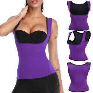 Lady Sauna Sweat Workout Vest Gym Suit Stomach Slimmer Trimmer Shirt Body Shaper