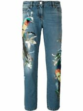 NWT ROBERTO CAVALLI Sequin Studded Embellished Bird Distressed Jeans IT40 $5495