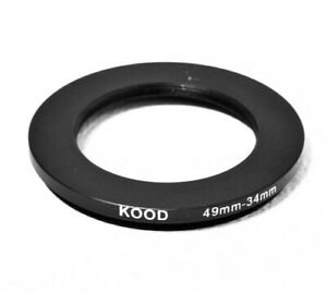 Stepping Ring 49-34mm 49mm to 34mm Step Down ring stepping Rings 49mm-34mm