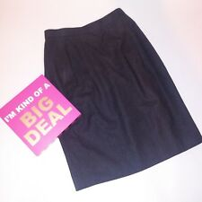 Talbots Petites 8P Womens Skirt Gray Solid