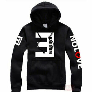 NEU Herren Fleece Hoodies Eminem Printed Thicken Pullover Sweatshirt Sportwear