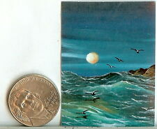 PRINT 2 x 1.5 Inch GLOSSY Tiny Miniature Dollhouse PRINT Ocean 1:12 Scale HYMES